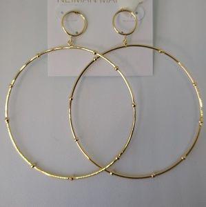Delicate Large Front-Facing Hoop Earrings
